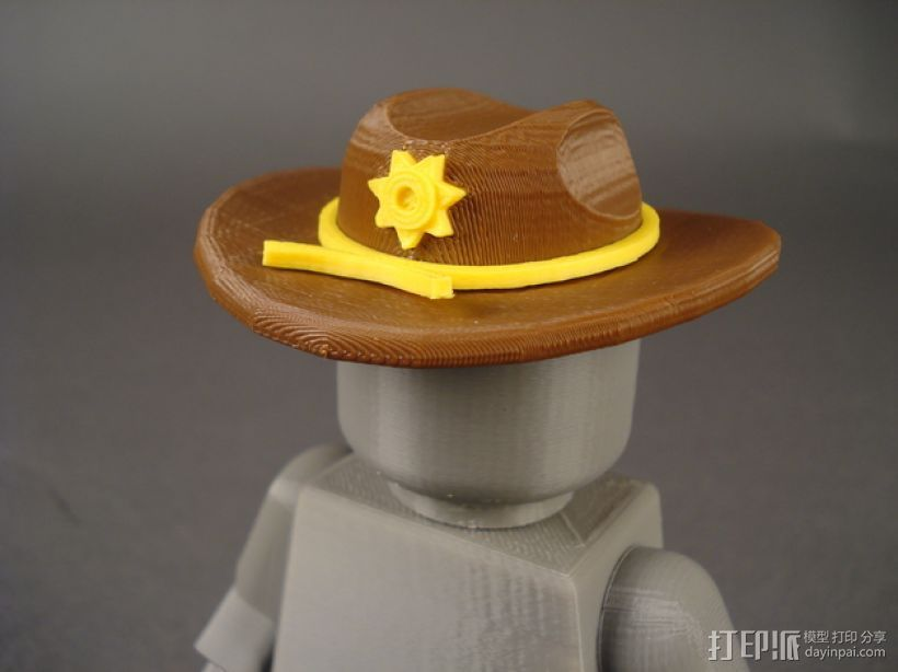 副警长的帽子 3D打印模型渲染图