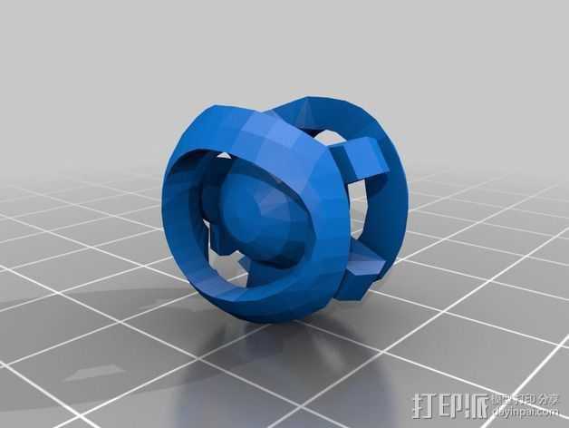 光晕监视器 3D打印模型渲染图