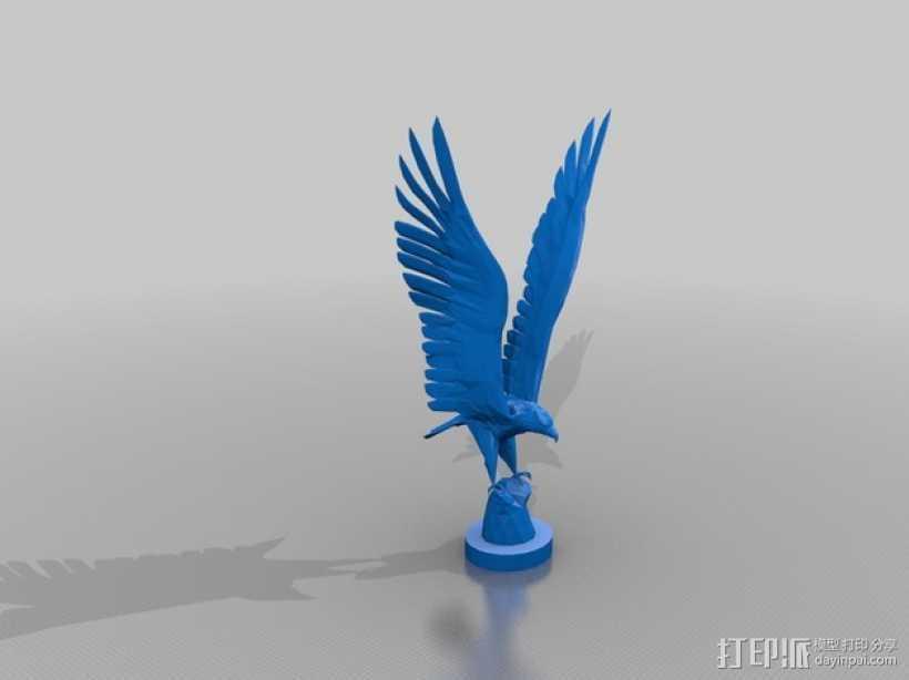 苍鹰 3D打印模型渲染图