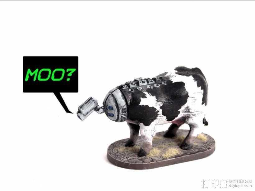 奶牛机器人 3D打印模型渲染图