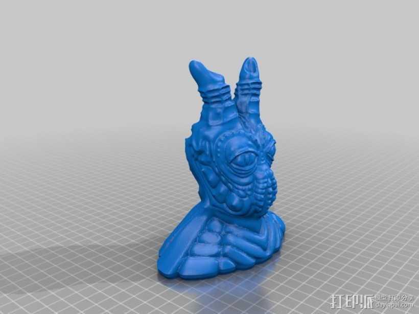 魔王别卜西 3D打印模型渲染图