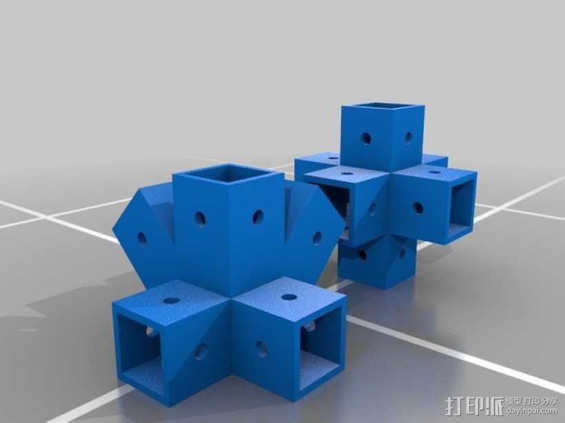 中心连接器 3D打印模型渲染图