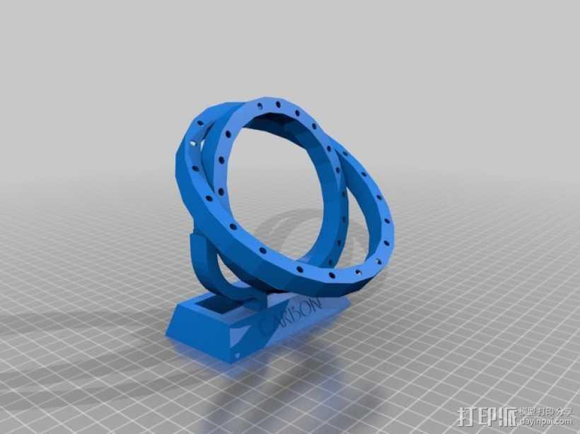 原子结构 碳原子  3D打印模型渲染图