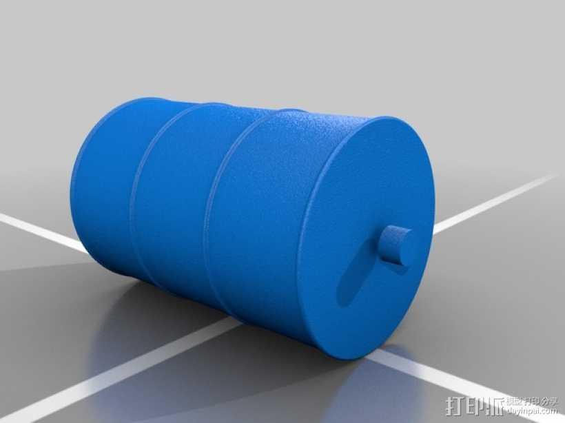 油桶 3D打印模型渲染图