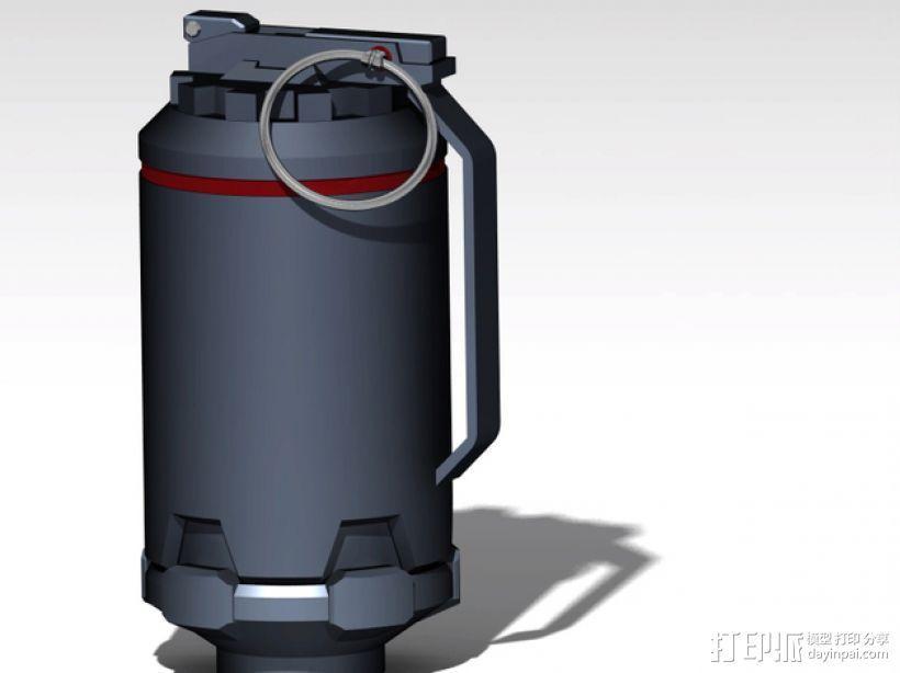 手榴弹 3D打印模型渲染图