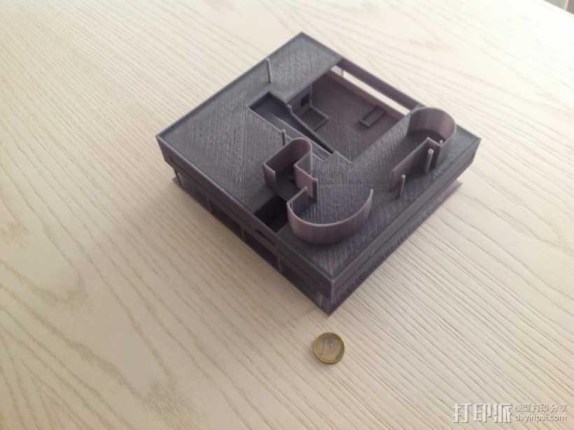 SAVOYE萨伏伊别墅 3D打印模型渲染图