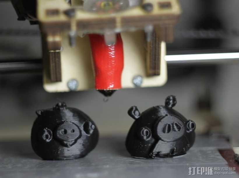 捣蛋猪 3D打印模型渲染图