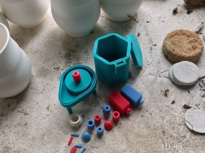 陶艺拉柸机 3D打印模型渲染图