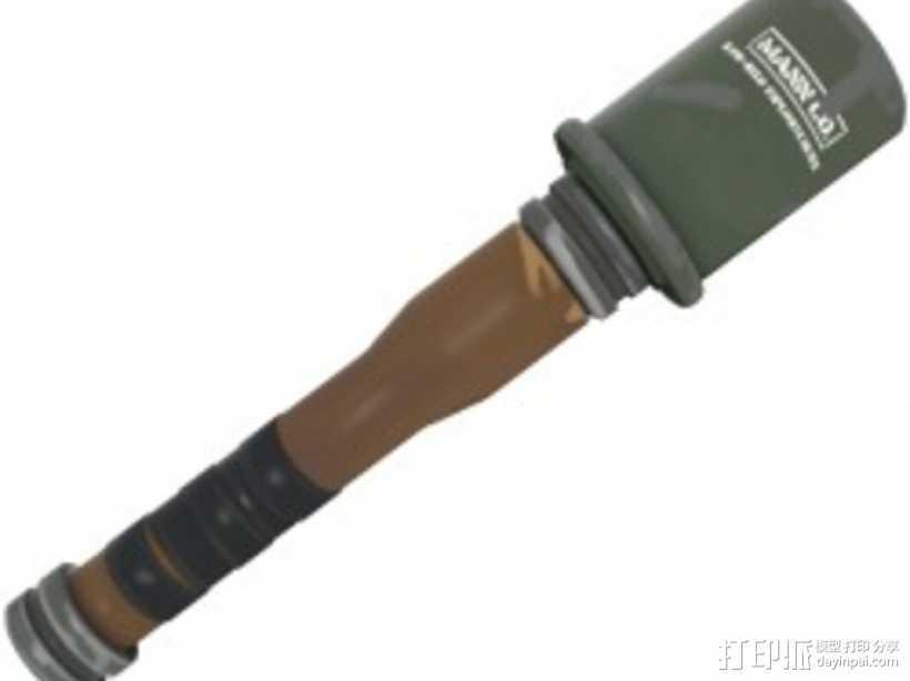 边防要塞 阿勒浦木制手榴弹 3D打印模型渲染图