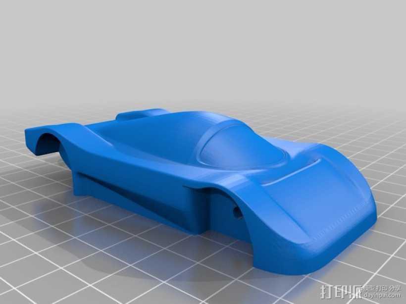 梅赛德斯C9超级跑车 3D打印模型渲染图