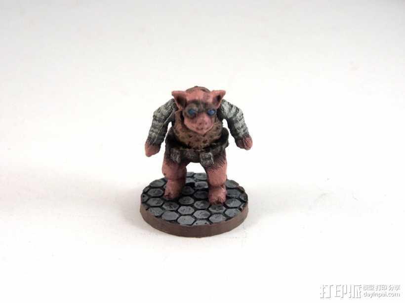 Pigdexter小猪战士 3D打印模型渲染图