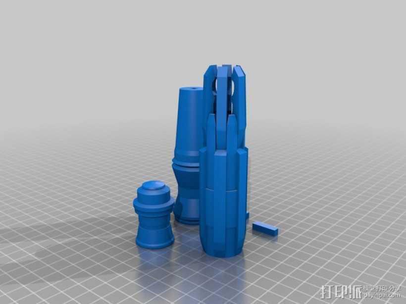 神秘博士 音速起子 3D打印模型渲染图