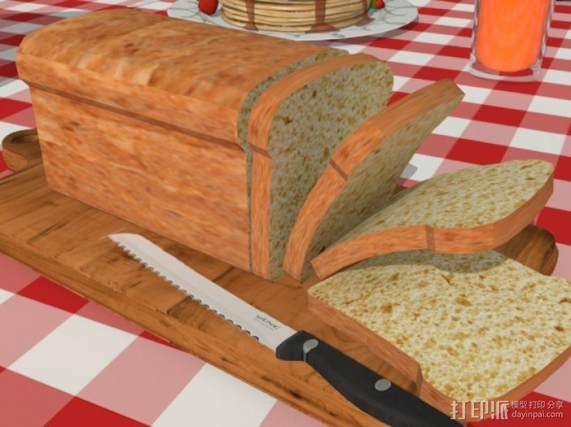 面包 方包 3D打印模型渲染图