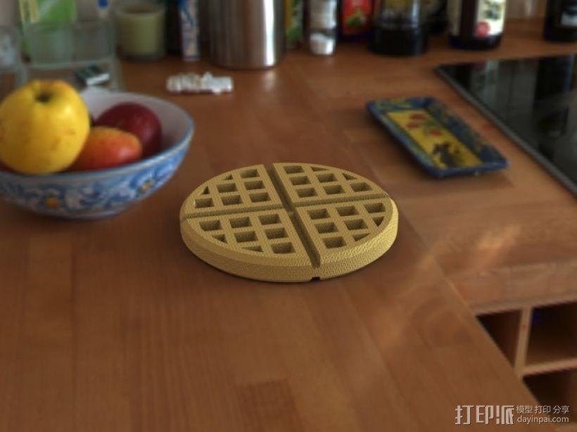 华夫饼干 3D打印模型渲染图