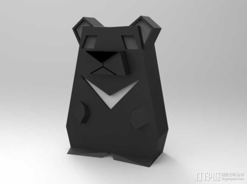 月亮熊 3D打印模型渲染图