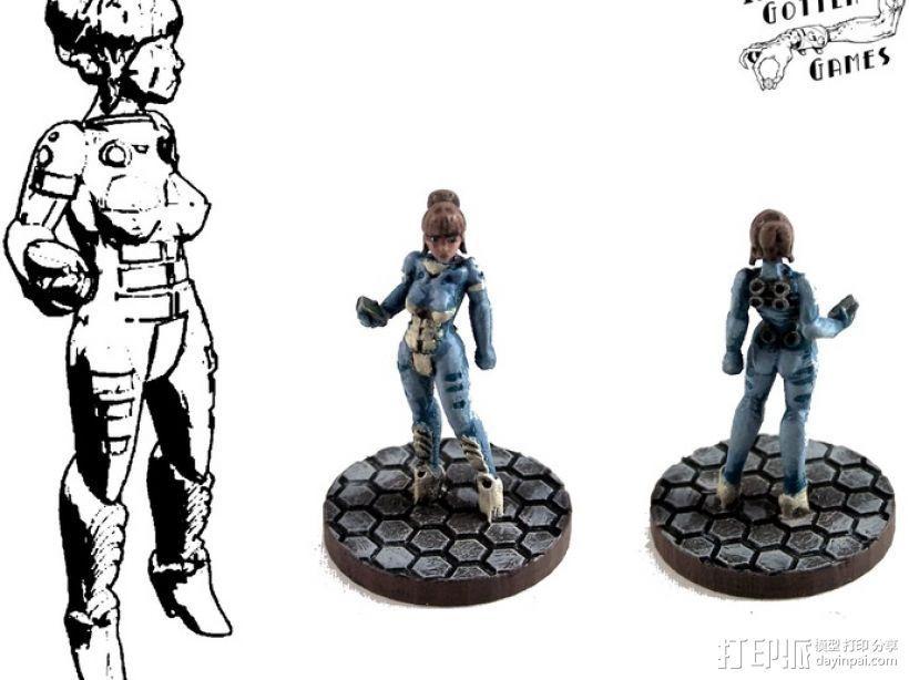 游戏造型Alexandra Pryce 3D打印模型渲染图