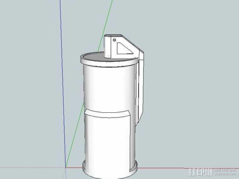 闪光弹 3D打印模型渲染图