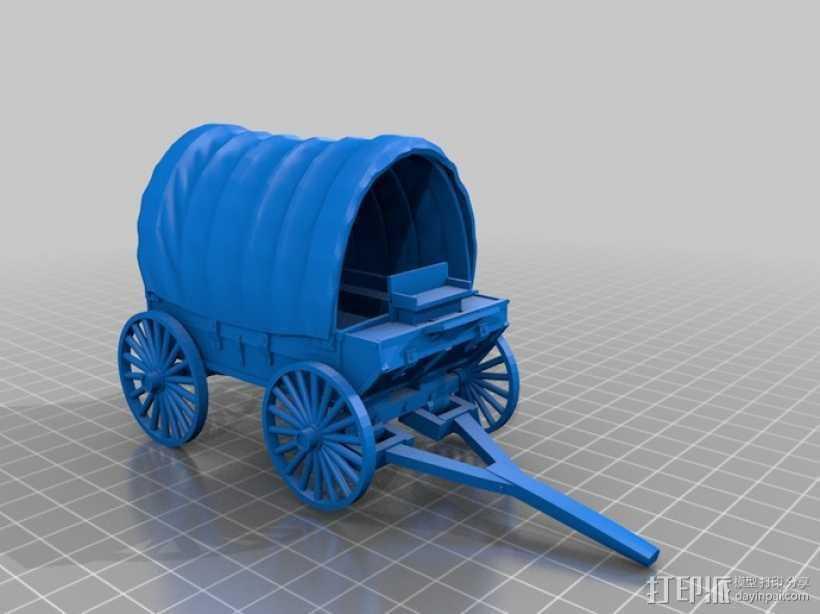 火车 四轮马车 3D打印模型渲染图