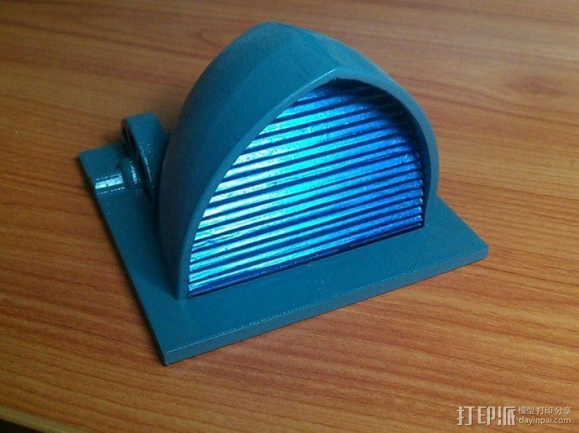 贝壳形风力发电站 3D打印模型渲染图