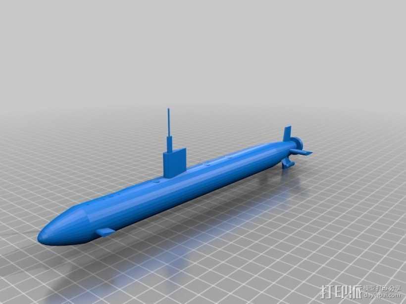 核动力攻击潜艇 3D打印模型渲染图