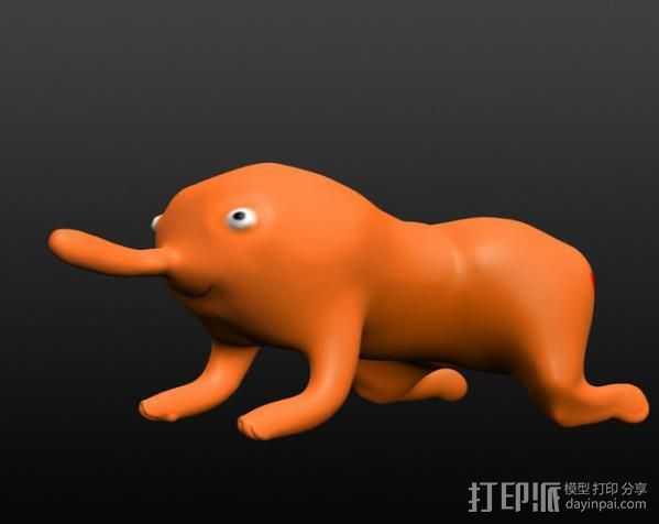 木偶 玩偶  3D打印模型渲染图