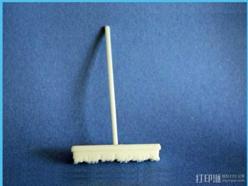 扫帚 洗车扫帚 3D打印模型渲染图