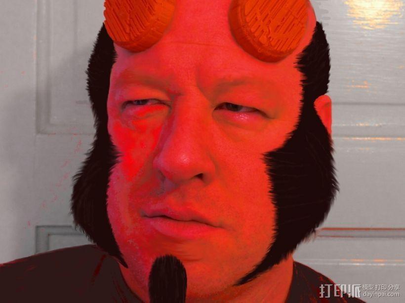 地狱男爵的角 3D打印模型渲染图