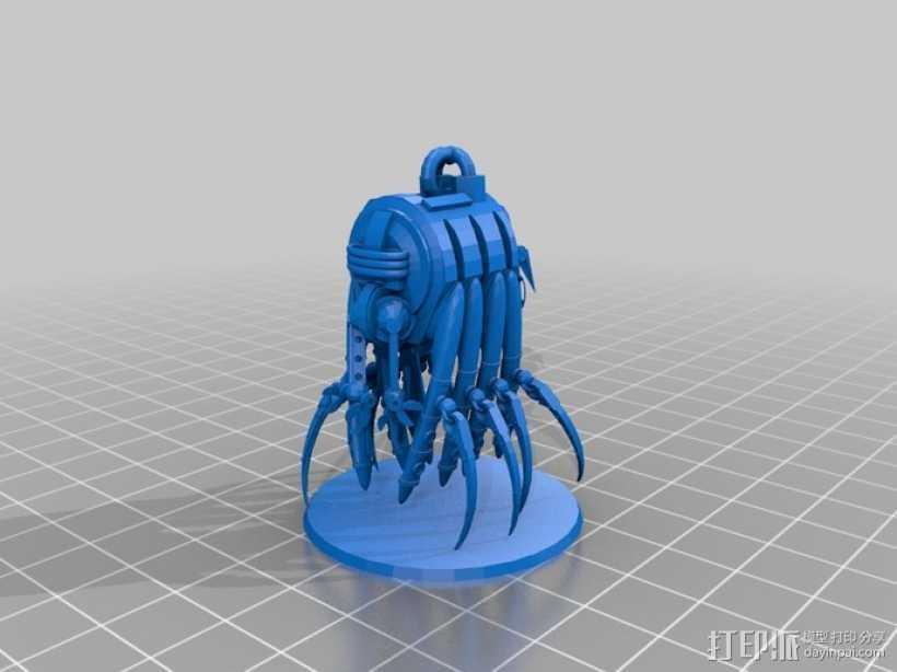 采集机 3D打印模型渲染图