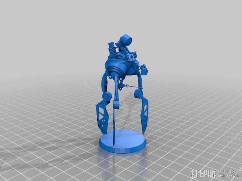 蜘蛛机器人 3D打印模型渲染图