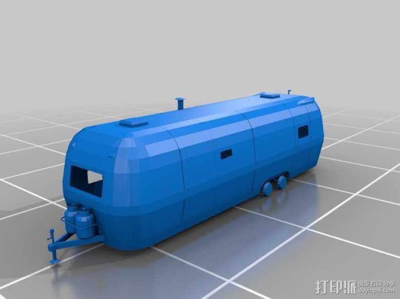 拖车 鸟屋 3D打印模型渲染图