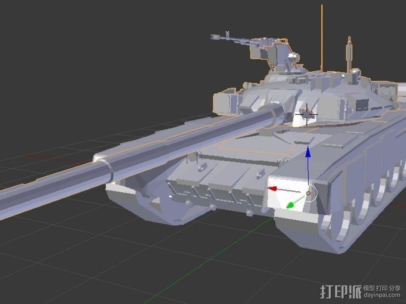 T-90坦克 3D打印模型渲染图