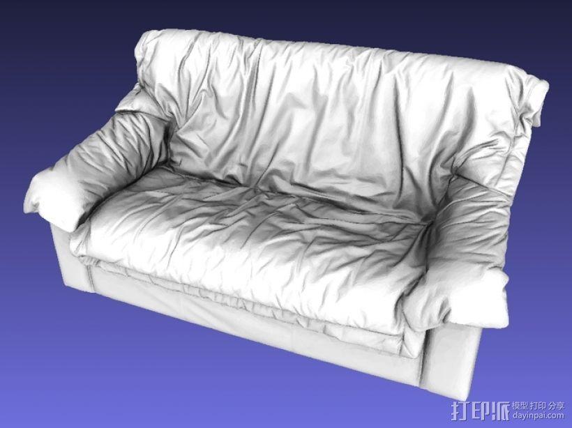 皮沙发 3D打印模型渲染图