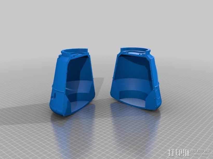 飞船 3D打印模型渲染图