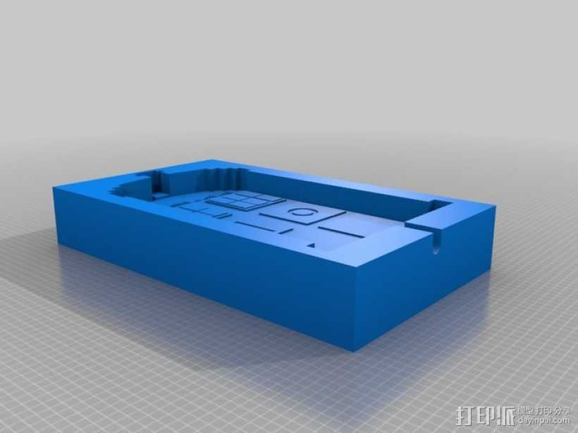 塔迪斯警察亭制作模具 3D打印模型渲染图