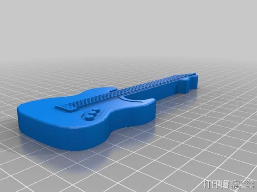 电吉他 3D打印模型渲染图
