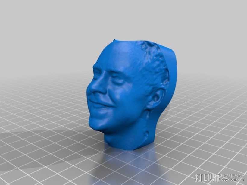 写实人物雕像 3D打印模型渲染图
