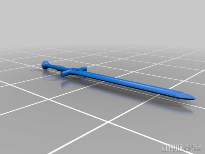 斯塔克家族的巨剑 3D打印模型渲染图