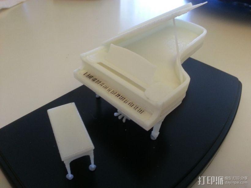 钢琴 3D打印模型渲染图
