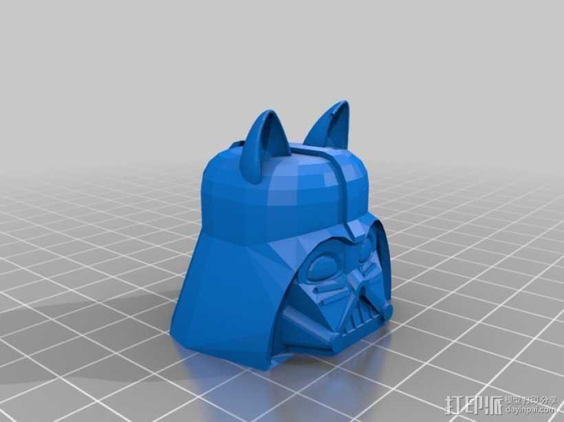 达斯维达kitty猫 3D打印模型渲染图