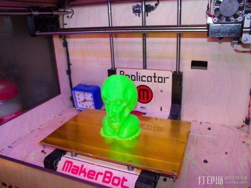 星际迷航Balok人物半身像  3D打印模型渲染图
