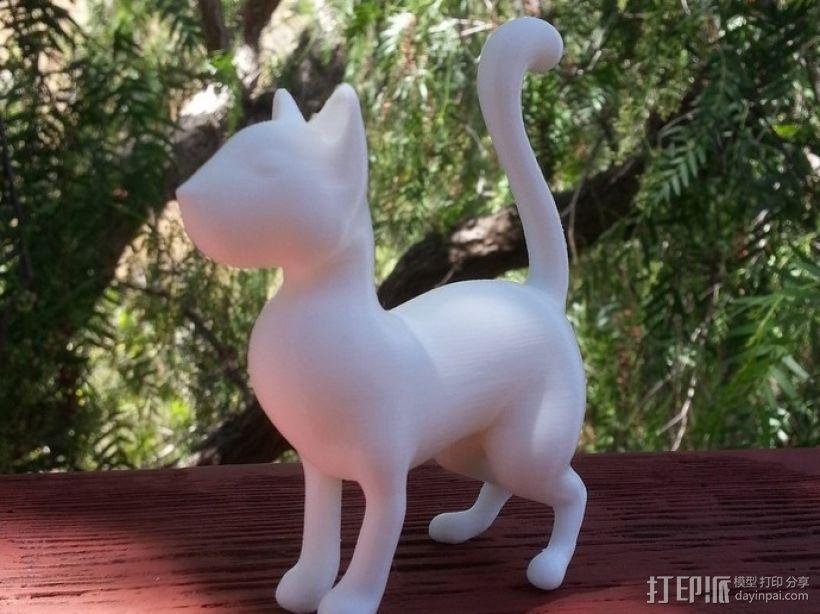 猫 3D打印模型渲染图