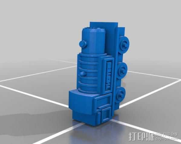 玩具火车 3D打印模型渲染图