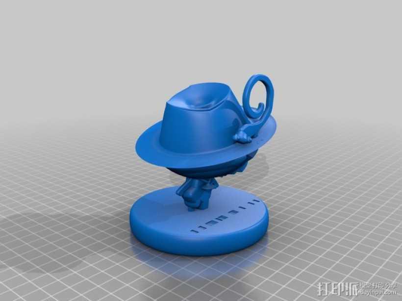 漫画人物 家庭教师 3D打印模型渲染图