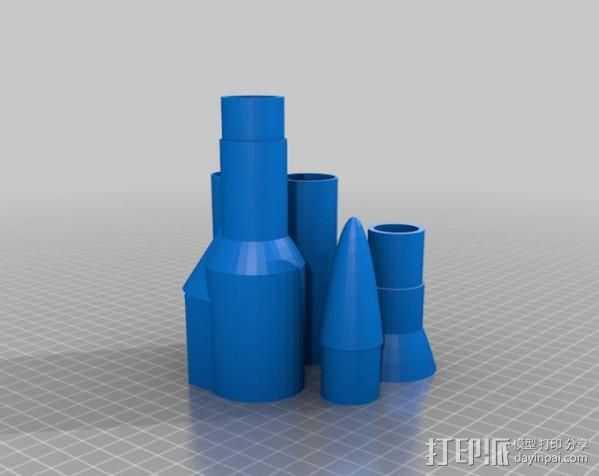 火箭 3D打印模型渲染图
