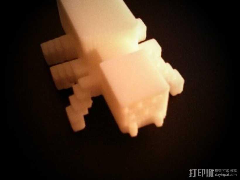 我的世界 蜘蛛模型 3D打印模型渲染图