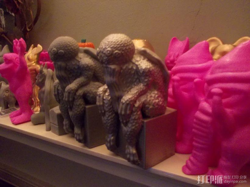 克苏鲁雕塑 3D打印模型渲染图