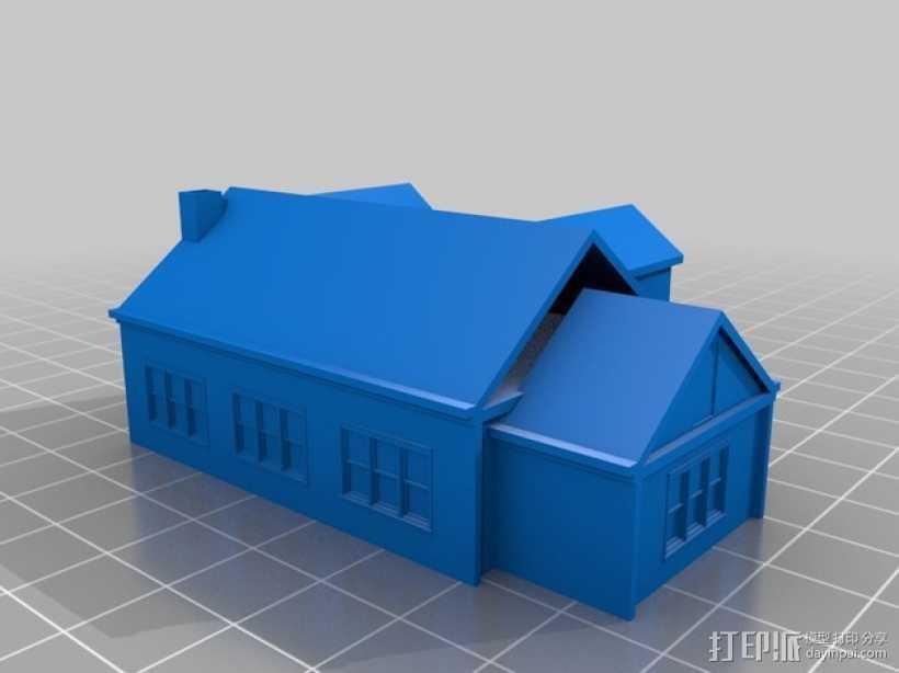 房屋模型 3D打印模型渲染图