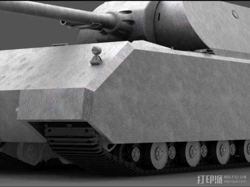 鼠式重型坦克 3D打印模型渲染图
