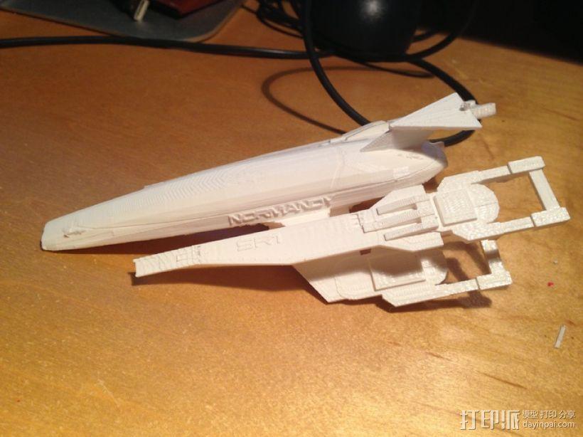SSV Normandy SR-1诺曼底号太空飞船 3D打印模型渲染图