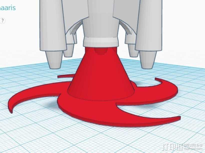 火箭发射底座 3D打印模型渲染图